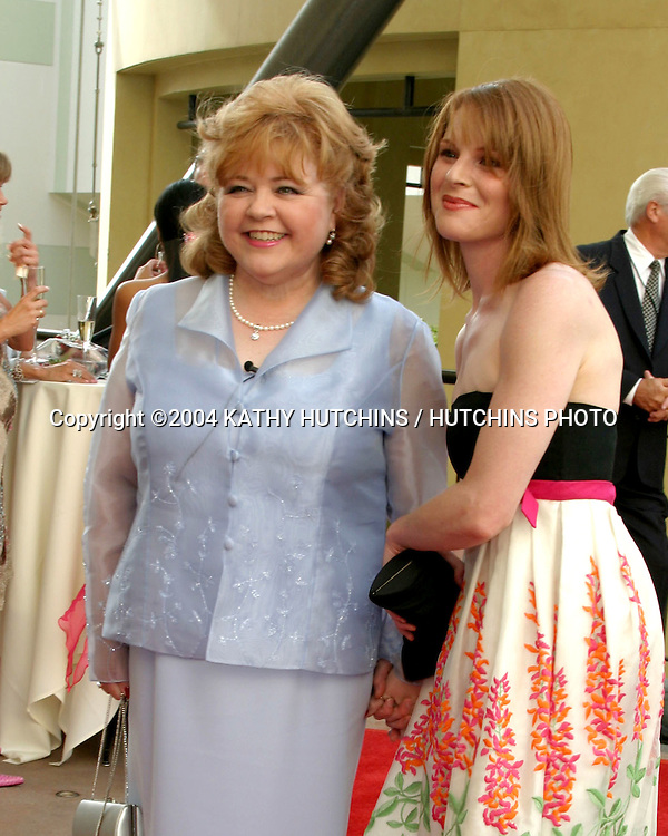 ©2004 KATHY HUTCHINS /HUTCHINS PHOTO.DAYTIME TECHNICAL EMMYS.HOLLYWOOD, CA.MAY 15, 2004..PATRIKA DARBO AND HER WOMAN IN FILM MENTEE.MARCELLINA WALKER.