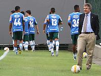 SAO PAULO, SP, 11 MARCO 2013 - TREINO PALMEIRAS -  O presidente Paulo Nobre observa o treino de reapresentação do Palmeiras depois do empate de O x O com o São Paulo pela 11 rodada do paulistao no ct da Barra Funda na capital nessa segunda-feira 11. (FOTO: LEVY RIBEIRO / BRAZIL PHOTO PRESS)