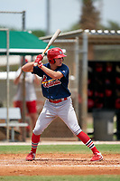 GCL Cardinals Patrick Romeri (16) during a Gulf Coast League game against the GCL Marlins on August 12, 2019 at the Roger Dean Chevrolet Stadium Complex in Jupiter, Florida.  GCL Marlins defeated the GCL Cardinals 9-2.  (Mike Janes/Four Seam Images)