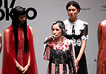 September 9, 2017, Tokyo, Japan - Japanese singer Mika Nakashima speaks after she perfomed before hundreds of shoppers at the opening ceremony for the Vogue Fashion's Night Out 2017 in Tokyo on Saturday, September 9, 2017. Some 630 shops participated one-night fashion shopping event in Tokyo. (Photo by Yoshio Tsunoda/AFLO) LWX -ytd-