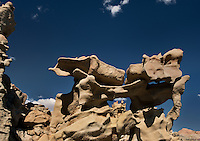 746000006 strange sandstone formations stand watch over the landscape in fantasy canyon a blm property in the middle of a working oil field in northeastern utah united states