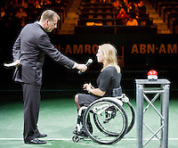 11-02-13, Tennis, Rotterdam, ABNAMROWTT, Opening 40th ABN AMRO WTT with Roger Federer and Esther Vergeer