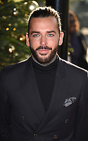 Pete Wicks<br /> arriving for the TRIC Christmas Party, Grosvenor House Hotel, London.<br /> <br /> <br /> &copy;Ash Knotek  D3362  12/12/2017
