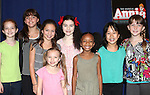 Taylor Richardson, Georgi James, Madi Rae DiPietro, Emily Rosenfeld, Tyrah Skye Odoms, Junah Jang and Jaidyn Young attending the Meet & Greet for 'ANNIE' at The New 42nd Street Rehearsal Studios in New York City on September 112, 2012