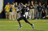 1 September 2011:  FIU wide receiver T.Y. Hilton (4) returns a kick in the second half as the FIU Golden Panthers defeated the University of North Texas, 41-16, at FIU Stadium in Miami, Florida.