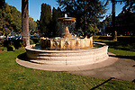 Sausalito; fountain; California, USA.  Photo copyright Lee Foster.  Photo # california108970