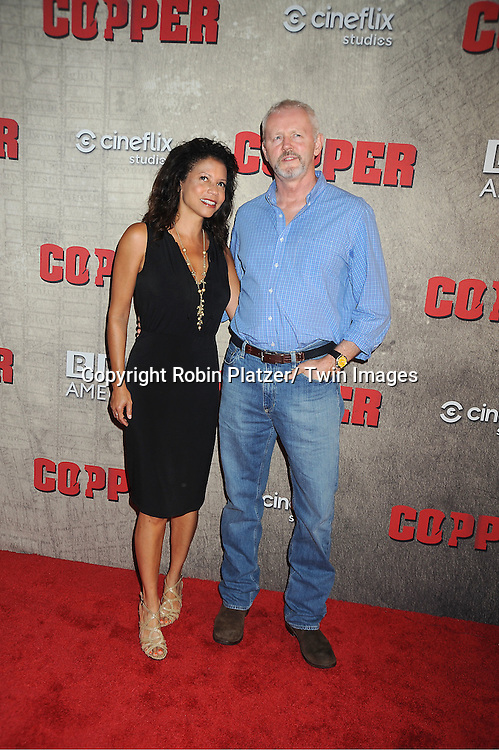 "David Morse, Gloria Reuben attend the BBC America premiere of The New York 1860's Crime Drama ""Copper"" on August 15, 2012 at MoMa in New York City."