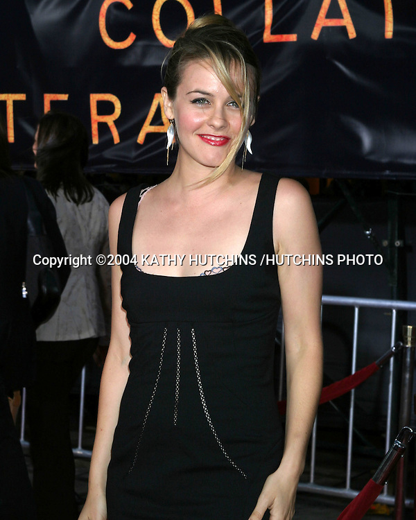 "©2004 KATHY HUTCHINS /HUTCHINS PHOTO.PREMIERE OF ""COLLATERAL"".ORPHEUM THEATER, DOWNTOWN LA.LOS ANGELES, CA.AUG 2, 2004..ALICIA SILVERSTONE"