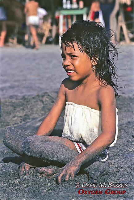 Girl On Beach