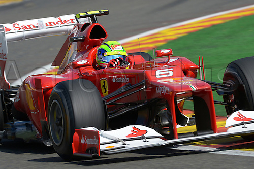 01.09.2012. Spa, Belgium.  Brazilian Formula One driver Felipe Massa of Ferrari steers his car during the qualification session at the race track Circuit de Spa-Francorchamps near Spa, Belgium, 01 September 2012. The Formula One Grand Prix of Belgium will take place on 02 September 2012.