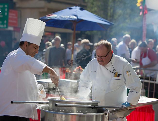 Eldorado chefs prepare pasta during the 35th Annual Eldorado Great Italian Festival held in downtown Reno on Saturday, October 8, 2016.