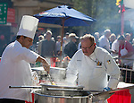 Eldorado chefs prepare pasta during the 35th Annual Eldorado Great Italian Festival held in downtown Reno on Saturday, October 8, 2016.