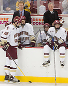 Brian Boyle, Greg Brown, Dan Bertram, Benn Ferreiro, Jerry York, Nathan Gerbe - The Boston College Eagles defeated Northeastern University Huskies 5-3 on Saturday, November 19, 2005, at Kelley Rink in Conte Forum at Chestnut Hill, MA.