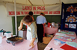 Meat stall- supporting British  farming  2000  Gamefair - Blenheim Palace , Oxfordshire.
