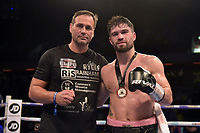 John Ryder (black shorts) defeats Andrey Sirotkin during a Boxing Show at the Copper Box Arena on 27th October 2018