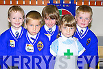 BRAVE: Putting on a brave face as they face their first day at Clounalour CBS Primary School on Monday, l-r: Padraig O'Sullivan,Schavn Kedzierski,Enda Cahill,Adelina Kaotrale and Jack Trant..
