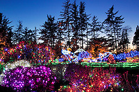 Christmas display at Shore Acres State Park, Oregon