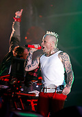 The Prodigy - vocalist Keith Flint performing live on Day Two on the Main Stage at T In The Park Festival held at Balado Kinross Scotland UK - 10 Jul 2010.  Photo: © Tom Main /IconicPix