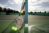 23 SEP 2005 - LOUGHBOROUGH, UK - Tennis court and equipment. (PHOTO (C) NIGEL FARROW)