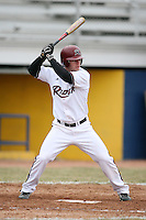 March 22nd 2009:  Center Fielder James Hayes (1) of the Rider University Broncs during a game at Sal Maglie Stadium in Niagara Falls, NY.  Photo by:  Mike Janes/Four Seam Images