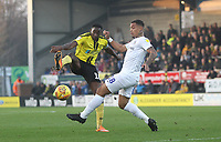 Burton Albion's Lucas Atkins battles with Coventry City's Jonson Clarke-Harris <br /> <br /> Photographer Mick Walker/CameraSport<br /> <br /> The EFL Sky Bet League One - Burton Albion v Coventry City - Saturday 17th November 2018 - Pirelli Stadium - Burton upon Trent<br /> <br /> World Copyright &copy; 2018 CameraSport. All rights reserved. 43 Linden Ave. Countesthorpe. Leicester. England. LE8 5PG - Tel: +44 (0) 116 277 4147 - admin@camerasport.com - www.camerasport.com