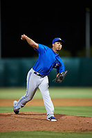 Dunedin Blue Jays relief pitcher Kender Villegas (41) delivers a pitch during a game against the Florida Fire Frogs on April 10, 2017 at Osceola County Stadium in Kissimmee, Florida.  Florida defeated Dunedin 4-0.  (Mike Janes/Four Seam Images)