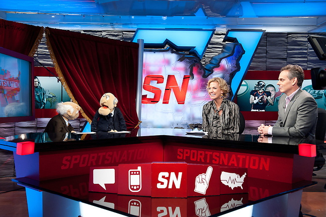 November  15, 2011 - Bristol, CT - Studio B:  The Muppets, Statler and Waldorf playing Number Crunch on SportsNation with Michelle Beadle and Colin Cowherd.. .Credit: Joe Faraoni