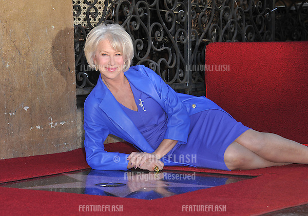 Dame Helen Mirren on Hollywood Boulevard where she was honored with the 2,488th star on the Hollywood Walk of Fame..January 3, 2013  Los Angeles, CA.Picture: Paul Smith / Featureflash