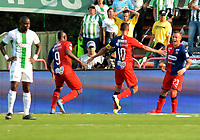 MEDELLIN-COLOMBIA, 29-02-2020: Jugadores de Atletico Nacional, celebran el gol anotado a Deportivo Independiente Medellin,  durante partido de la fecha 7 entre Atletico Nacional y Deportivo Independiente Medellin, por la Liga BetPLay DIMAYOR I 2020, jugado en el estadio Atanasio Girardot de la ciudad de Medellin. / Players of Atletico Nacional celebrate the scored goal to Deportivo Independiente Medellin, during a match of the 7th date between Atletico Nacional and Deportivo Independiente Medellin, for the BetPLay DIMAYOR I Leguage 2020 played at the Atanasio Girardot Stadium in Medellin city. / Photo: VizzorImage / Leon Monsalve / Cont.
