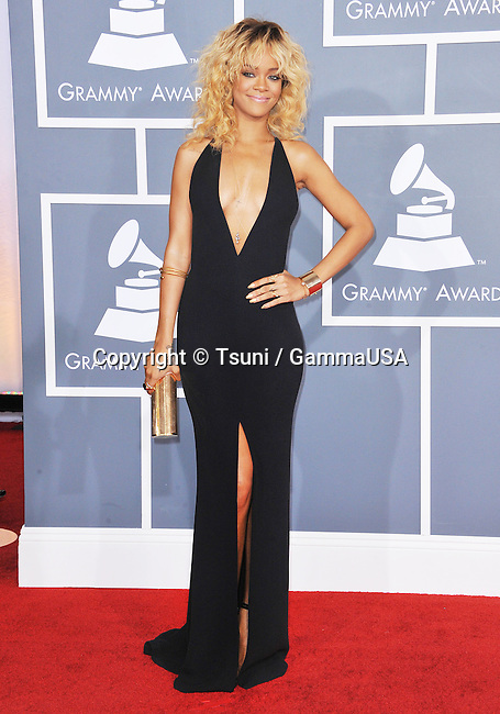 Rihanna _174 at  The  54th Annual GRAMMY Awards 2012 at the Staples Center In Los Angeles.