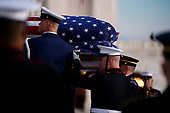 Joint service members of a military casket team carry the casket of former President George H. W. Bush into the US Capitol, where he will lie in state until Wednesday morning in Washington, DC, USA, 03 December 2018. Bush will lie in state in the Capitol Rotunda before his state funeral at the Washington National Cathedral 05 December. George H.W. Bush, the 41st President of the United States (1989-1993), died at the age of 94 on 30 November 2018 at his home in Texas.