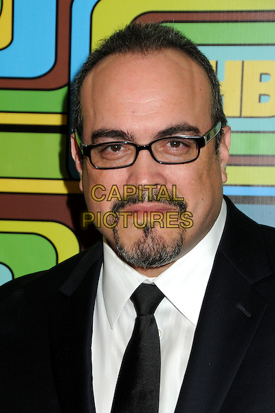DAVID ZAYAS .HBO 2011 Post Golden Globe Awards Party held at The Beverly Hilton Hotel, Beverly Hills, California, USA..January 16th, 2011.headshot portrait black white glasses goatee facial hair .CAP/ADM/BP.©Byron Purvis/AdMedia/Capital Pictures.
