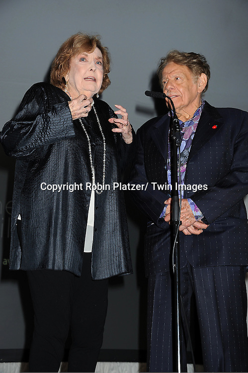 "honorees Jerry Stiller and Anne Meara attend the ""Made in NY""  Awards at Gracie Mansion on June 4, 2012 in New York City."