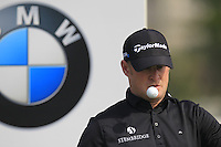 Jamie Donaldson (WAL) waits on the 1st tee to start his match during Sunday's Final Round of the 2014 BMW Masters held at Lake Malaren, Shanghai, China. 2nd November 2014.<br /> Picture: Eoin Clarke www.golffile.ie