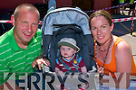 Fun Run:  Baby James with his parents Jim Dore & Theresa Moloney attending the Fun Run in Childers Park in Listowel on Sunday