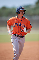 Houston Astros Jacob Meyers (96) during a Minor League Spring Training game against the St. Louis Cardinals on March 27, 2018 at the Roger Dean Stadium Complex in Jupiter, Florida.  (Mike Janes/Four Seam Images)