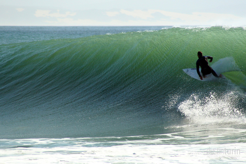 Lining up for a perfect wall at J-bay, South Africa.