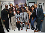 "BeBe Winans, Nita Whitaker, Kirsten Wyatt, Charles Randolph-Wright, Loren Lott, Lin-Manuel Miranda, Ron Gillyard, Maddie Shea Baldwin, Liisi LaFontaine and Donald Webber Jr. backstage after a Song preview performance of the Bebe Winans Broadway Bound Musical ""Born For This"" at Feinstein's 54 Below on November 5, 2018 in New York City."