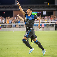 SAN JOSE, CA - AUGUST 25: Andy Rios #25 of the San Jose Earthquakes during a game between Vancouver Whitecaps FC and San Jose Earthquakes at Avaya Stadium on August 24, 2019 in San Jose, California.