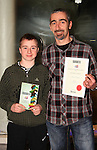 Leigh Caroline and Kieran Conway after the event. Kieran was a runner up in the Adult Poetry section..Picture: Shane Maguire / www.newsfile.ie.