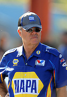 Sept. 19, 2010; Concord, NC, USA; NHRA crew chief Ed McCulloch during the O'Reilly Auto Parts NHRA Nationals at zMax Dragway. Mandatory Credit: Mark J. Rebilas-
