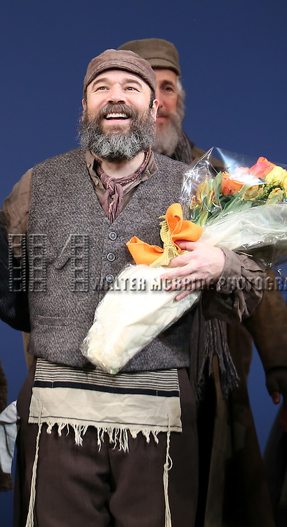 Danny Burnstein during the Broadway Opening Night Performance Curtain Call bows for 'Fiddler On The Roof'  at the Broadway Theatre on December 20, 2015 in New York City.