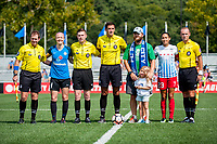 Kansas City, MO - Saturday September 9, 2017: Michael Radchuk, Amanda Ross, Joshua Haimes, Wade Beall, Becky Sauerbrunn, Christen Press, Éowyn Maynes during a regular season National Women's Soccer League (NWSL) match between FC Kansas City and the Chicago Red Stars at Children's Mercy Victory Field.