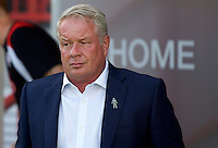 Manager Dermot Drummy of Crawley Town during the Sky Bet League 2 match between Crawley Town and Wycombe Wanderers at Broadfield Stadium, Crawley, England on 6 August 2016. Photo by Alan  Stanford / PRiME Media Images.