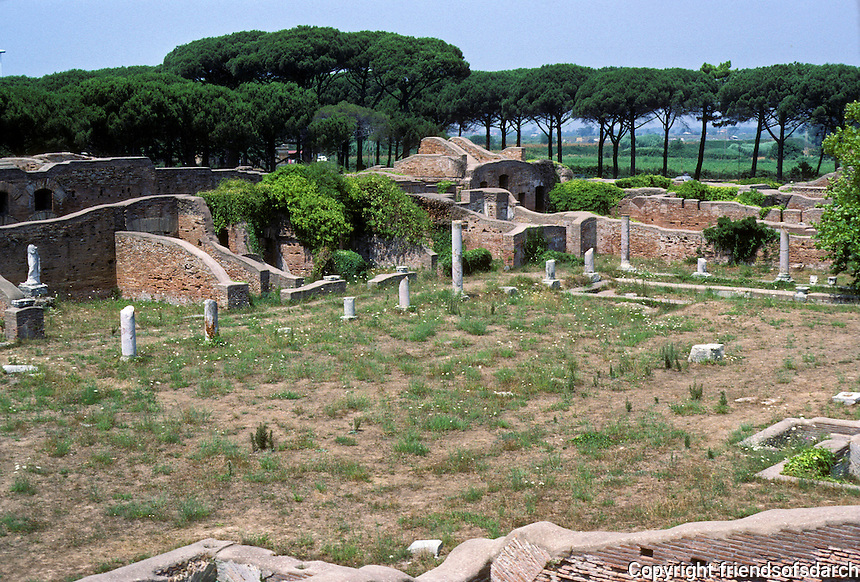 Italy: Ostia--View of Neptune's Baths from terrace. Photo '83.