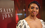Condola Rashad during the Broadway Opening Night Curtain Call for 'Saint Joan' at the Samuel J. Friedman Theatre on April 25, 2018 in New York City.