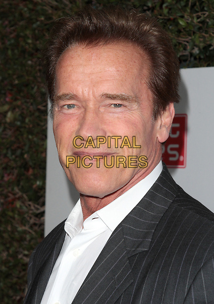 Arnold Schwarzenegger.The Grand Opening of Planet Dailies and Mixology 101 held at the Grove at the Farmers Market, Los Angeles, California, USA..5th April 2012.headshot portrait black white.CAP/ADM/SP/JO.©James Orken/Starlitepics/AdMedia/Capital Pictures.