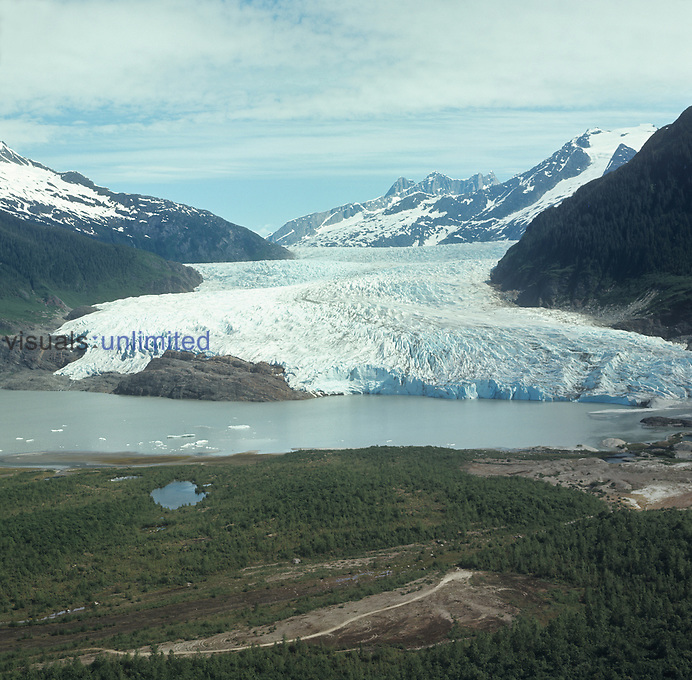 Mendenhall Glacier. 12KM north of capitol city of Alaska, USA, in Tongass National Forest.