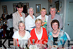 Kathleen Brandon, Castleisland sits between Milly Browne and Helen O'Donoghue on the occasion of her birthday last Thursday night June 5, in Cassidy's, Tralee with back l-r: Babs Kelliher, Betty McAuliffe, Breda Geaney and Shelia Hannon.