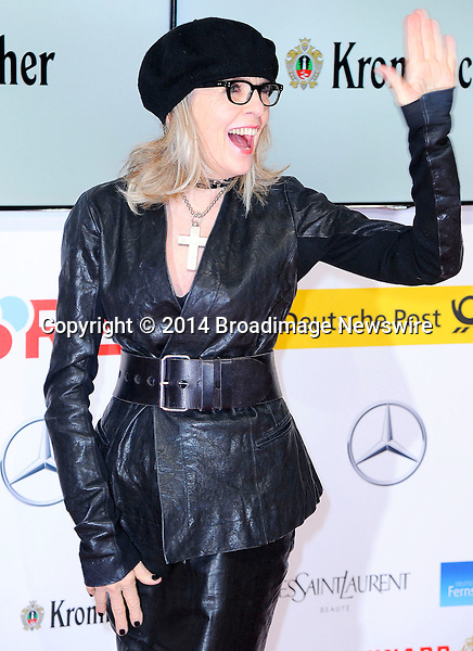 Pictured: Diane Keaton<br /> Mandatory Credit &copy; Adhemar Sburlati/Broadimage<br /> 2014 Goldene Kamera Awards - Arrivals<br /> <br /> 2/6/14, Munich, , Germany<br /> <br /> Broadimage Newswire<br /> Los Angeles 1+  (310) 301-1027<br /> New York      1+  (646) 827-9134<br /> sales@broadimage.com<br /> http://www.broadimage.com